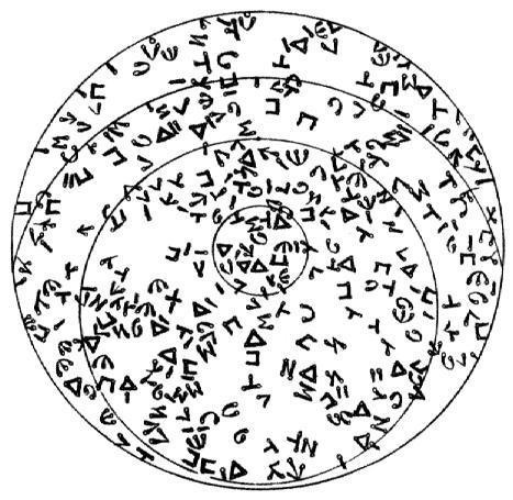 alphabet céleste