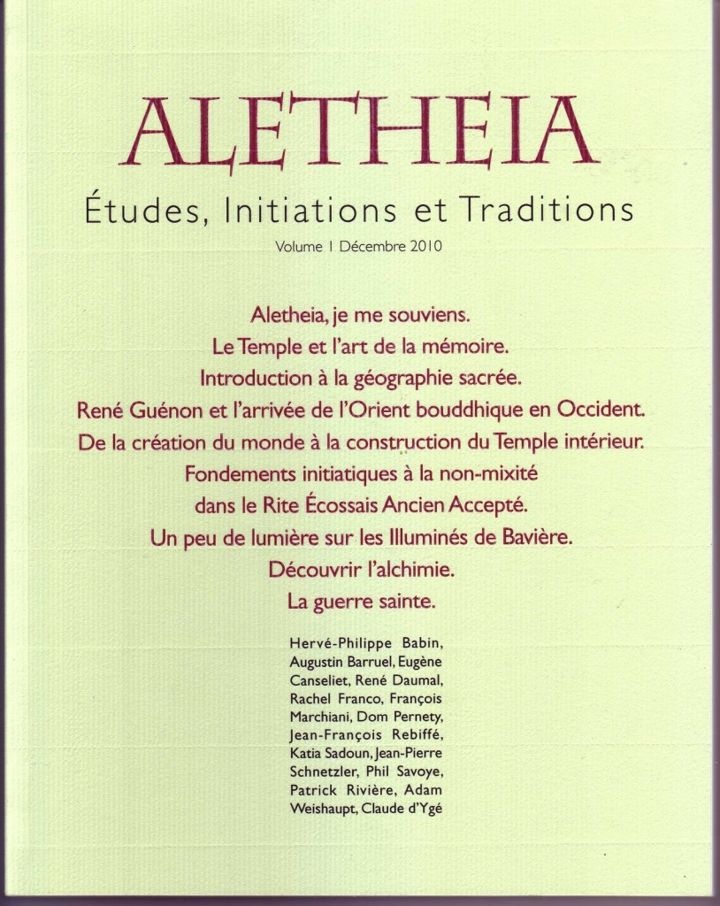 Parution d'Aletheia