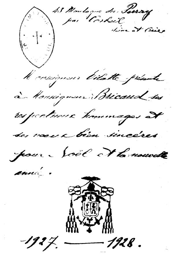 Certificat de consécration Bricaud - Des relations des évêques