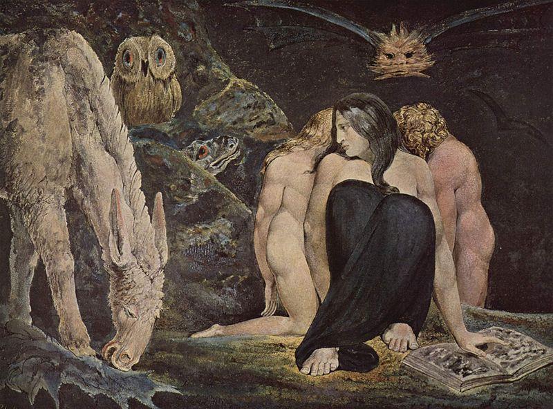 Hekate, William Blake, 1795. La Charge de la Sombre Déesse