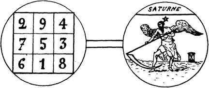 Des Sceaux des Planètes - Sceau de Saturne